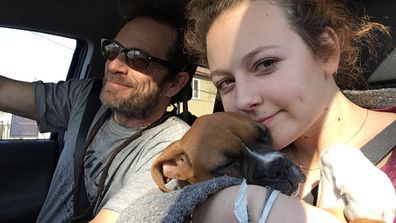 Luke Perry and his daughter Sophie.