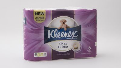 #3 Kleenex Luxury Collection Shea Butter Soft and Gentle, $6.05; 6 pack, no specified ply