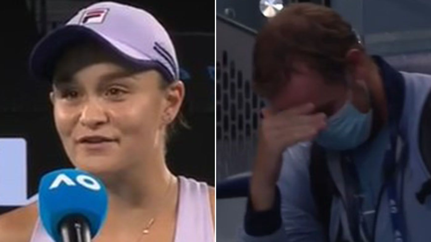 Ash Barty roasts red-faced 'Tubs' after her fourth round Australian Open win