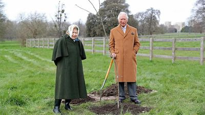 The Queen and Prince Charles launch Queen's Green Canopy, May 2021