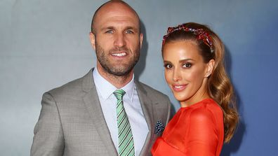 Bec Judd and husband Chris have got Christmas nailed. Image: Getty.