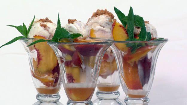 Peach sundae