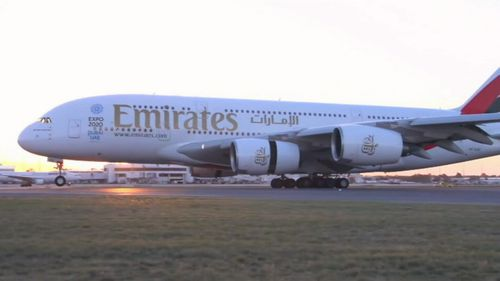 An Emirates plane