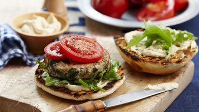 """<a href=""""http://kitchen.nine.com.au/2016/05/16/18/40/chicken-and-hummus-burger"""" target=""""_top"""">Chicken and hummus burger</a>"""