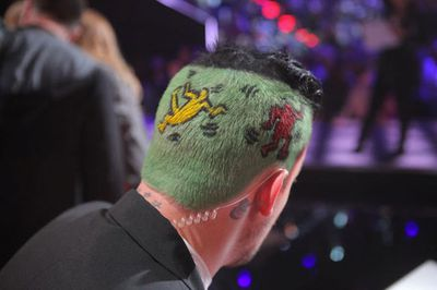 "This elaborate 'do was inspired by the work of artist Keith Haring...<p>Image: Joel Madden/Instagram</p><P><br/><b><a href=""http://www.thevoice.com.au/"" >For the latest updates, visit The Voice official website.</a></b>"