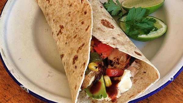 Jody's Mexican grilled chicken wraps
