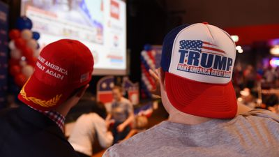 <p>Donald Trump supporters turned out in force to the University of Sydney event. </p> <p>(AAP)</p>