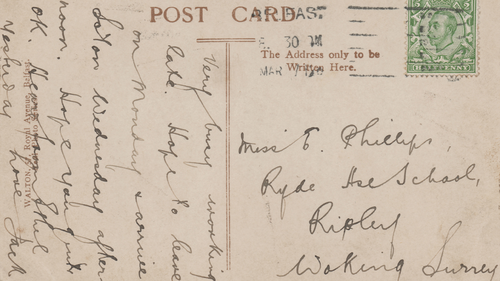 An original postcard written by Jack Phillips while aboard the Titanic is up for auction.