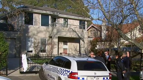 Police remained at the scene yesterday as investigations continued. Picture: 9NEWS