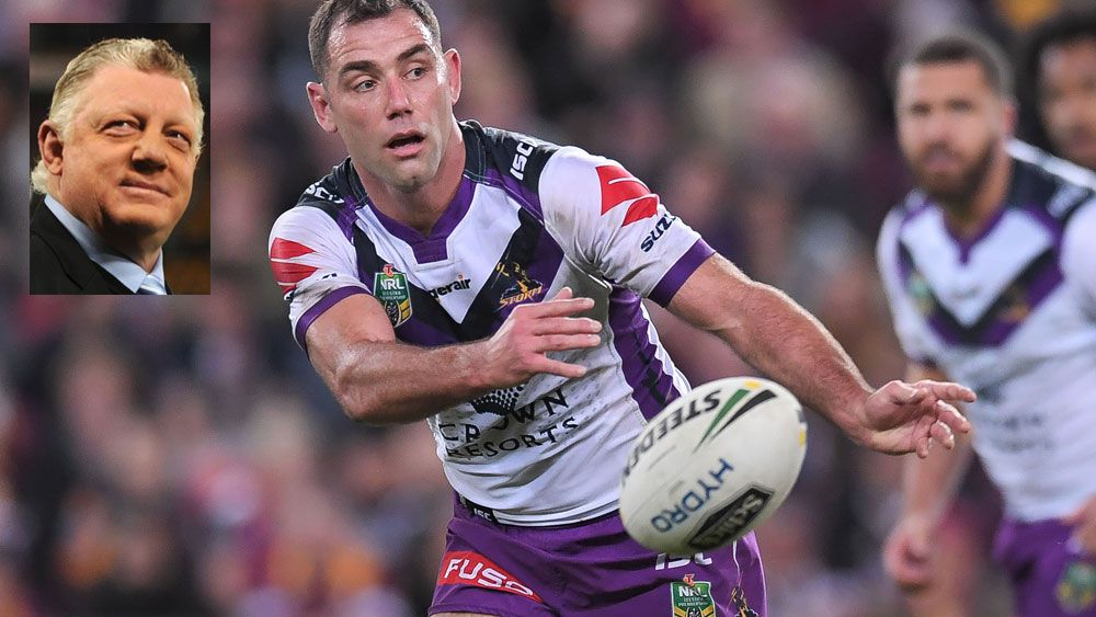 Phil Gould (inset) knows Cameron Smith and Melbourne Storm will be hard to beat. (AAP)