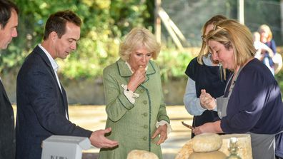 6 Camilla, Duchess of Cornwall visits The Bath Soft Cheese Company