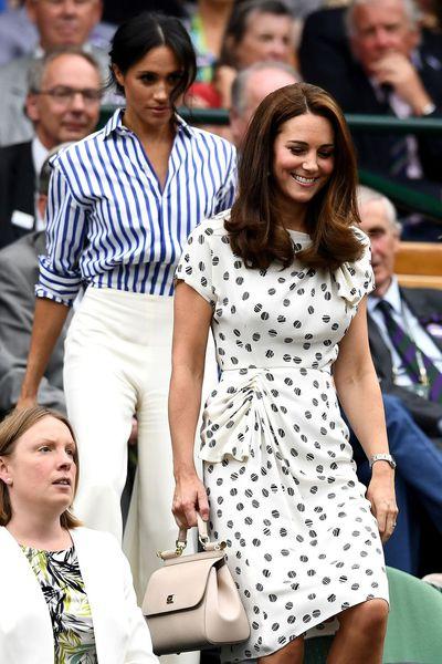The Duchess of Sussex in Ralph Lauren at Wimbledon, July 2018