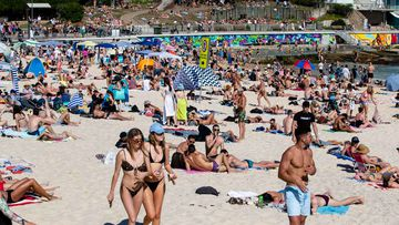 Bondi Beach on a public holiday.