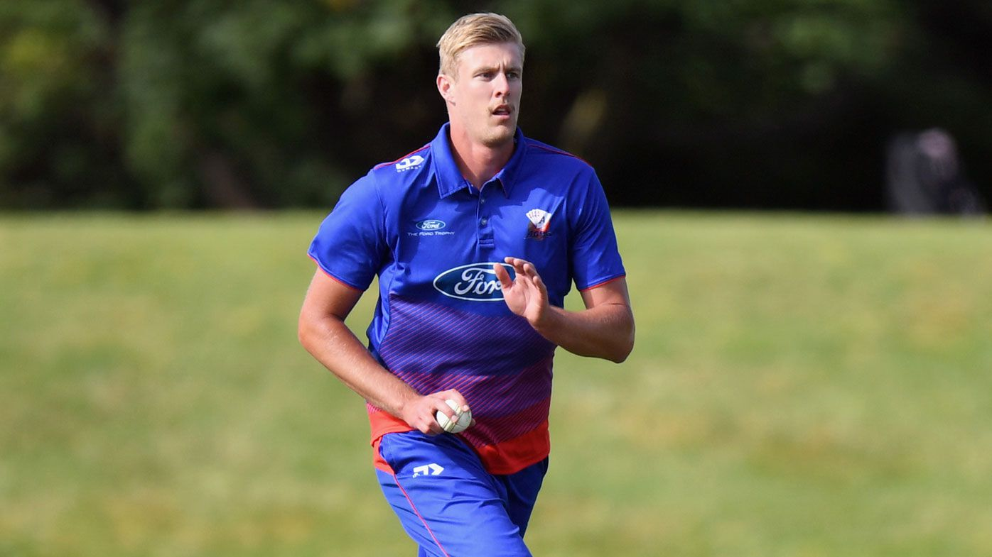 Kyle Jamieson of Auckland runs in to bowl during the Ford Trophy match between Canterbury and the Auckland Aces