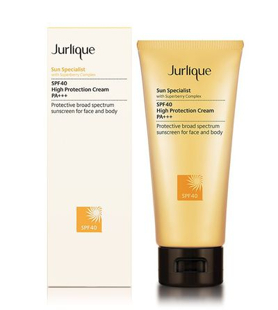 """Apply an SPF moisturiser,"" says McFadden. ""I am loving Jurlique Sun Specialist at the moment."""