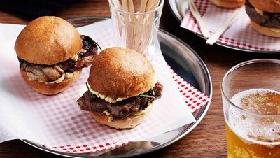 "Recipe; <a href=""http://kitchen.nine.com.au/2016/05/16/10/46/pork-neck-sliders"" target=""_top"">Pork neck sliders<br /> </a>"