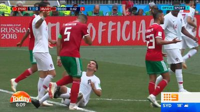 Portuguese star Pepe slammed for taking dive in Morocco win