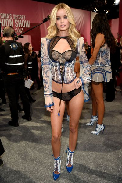 Frida Aasen at the Victoria's Secret 2017 runway show in Shanghai.