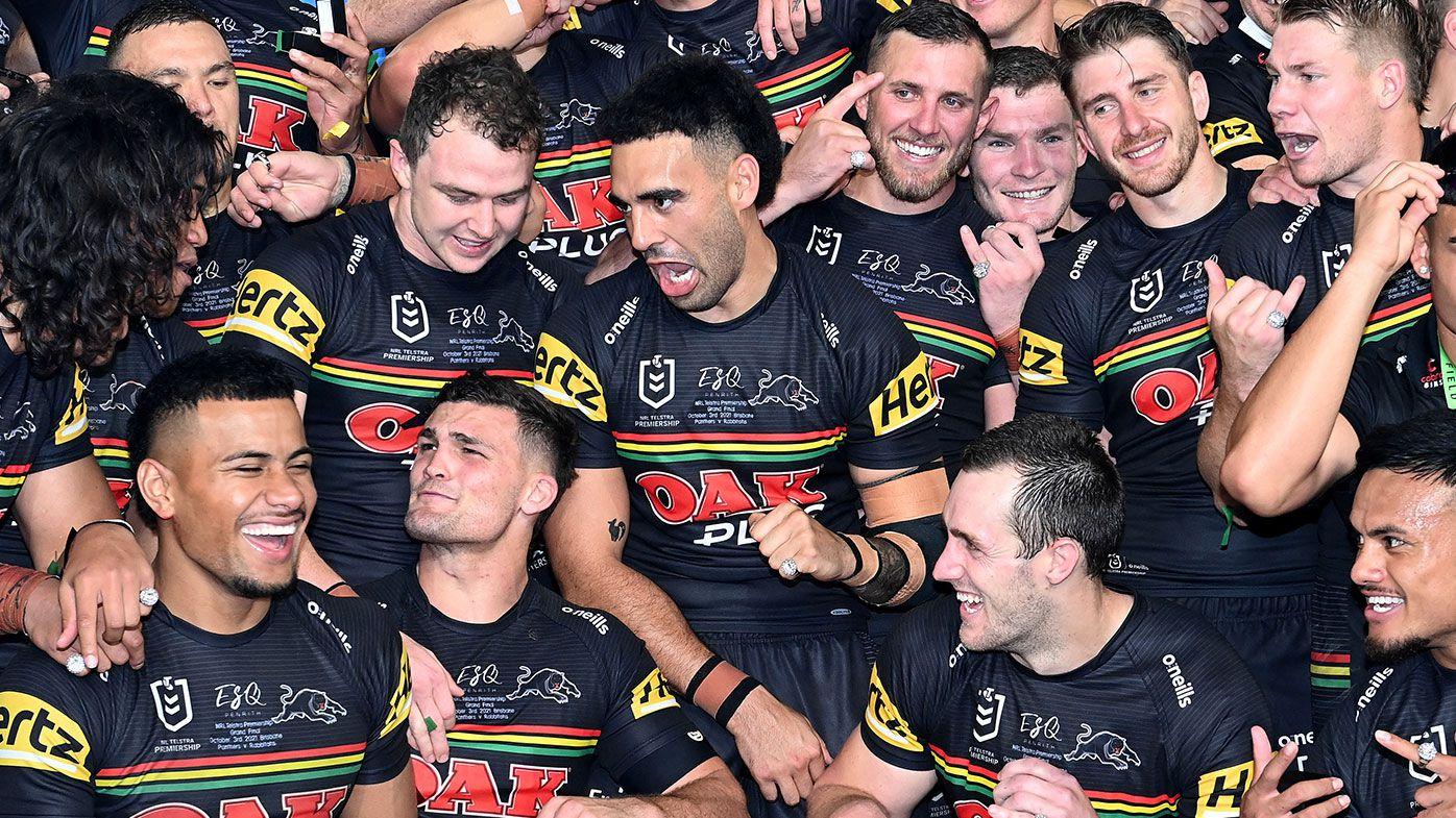 Panthers players celebrate