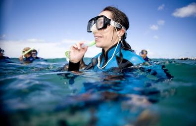 Woman snorkelling