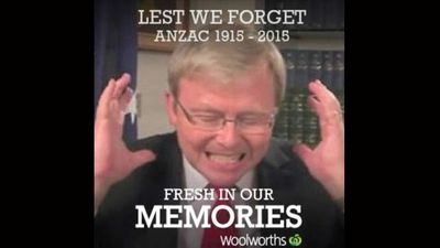 Former prime minister Kevin Rudd's blooper reel where he swears like a sailor is fresh in our memories.
