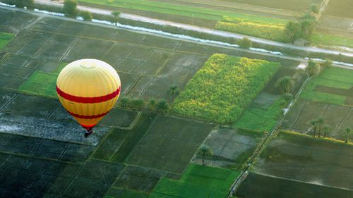 A file image of a balloon above Luxor, Egypt. (AAP)