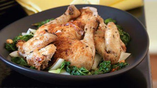 Tea-smoked chicken