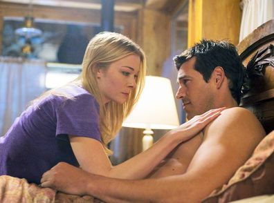 LeAnn Rimes and Eddie Cibrian on the set of their 2009 movie Northern Lights.