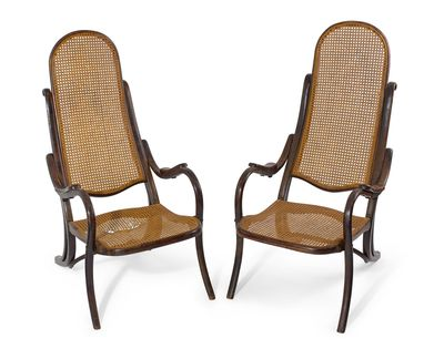 <strong>A pair of early 20th century Bentwood cane seated folding armchairs used in the film <em>The Water Diviner</em></strong>