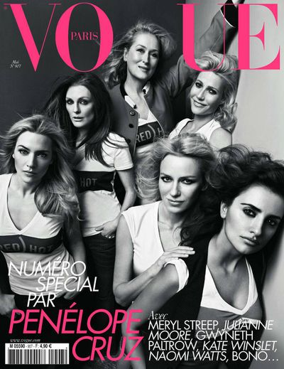 Meryl Streep, Gwyneth Paltrow, Penelope Cruz with Kate Winslet, Julianne Moore, Naomi Watts.