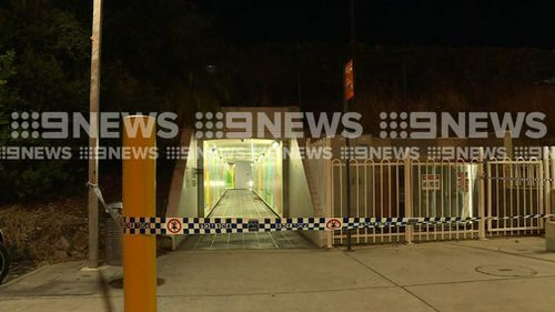 The stab victim suffered life-threatening injuries and was taken to Nambour Hospital. Picture: 9NEWS
