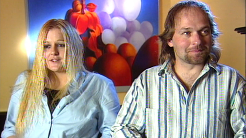 Greg Domaszewicz, pictured alongside his partner Bilynda Murphy, who he drove home from a Moe bar the night Jaidyn went missing.