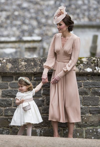 In May, 2017 the duchess stunned at the wedding of her sister Pippa Middleton. She wore a custom Alexander McQueen dress with a bespoke Jane Taylor hat to match.