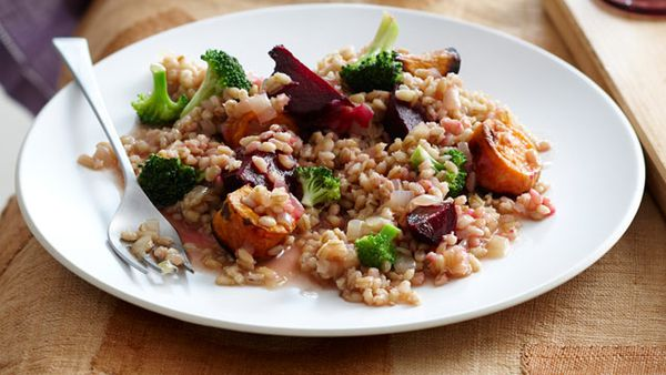 Roasted autumn vegetable barley