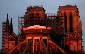 Notre Dame Cathedral in France still at risk after blaze