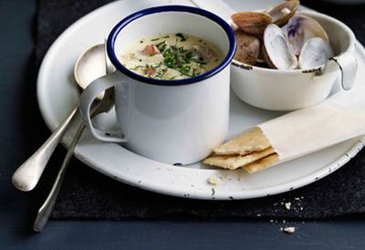 """Recipe:&nbsp;<a href=""""/recipes/other/8301752/new-england-style-clam-chowder"""">New England-style clam chowder</a>"""