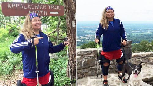 Paralysed woman tackles 3541km hiking trail with the help of futuristic leg braces