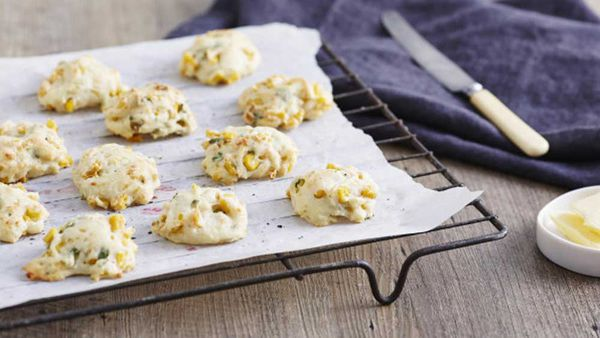 Corn fritter drop cookies