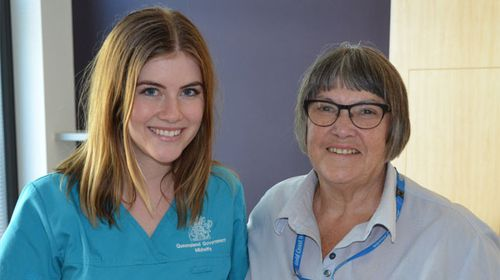 Gold Coast midwife discovers colleague helped deliver her