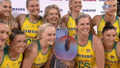 Diamonds beat NZ to win netball quad title