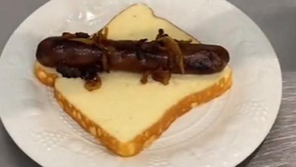 Viral Bunnings sausage TikTok - cake made to look like snag