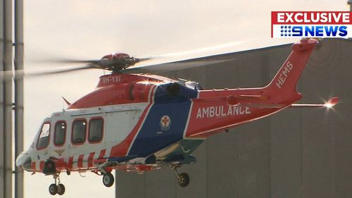 The boy was airlifted to The Royal Children's Hospital in Melbourne. (9NEWS)