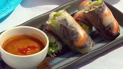 "<a href=""http://kitchen.nine.com.au/2016/05/19/10/54/soft-rice-paper-rolls-with-prawns-pork-gui-cuon"" target=""_top"" draggable=""false""><strong>Soft rice paper rolls with prawns & pork (gui cuon)</strong></a><strong> recipe</strong>"