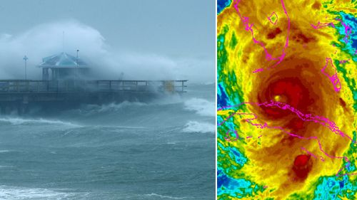 Impact: Strong winds whipped up huge waves.