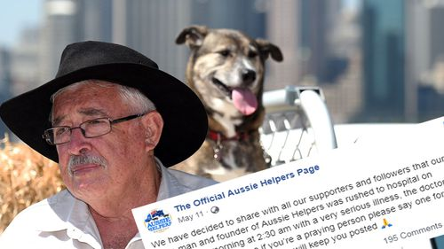 The charity first made public news of Mr Egan's health condition in early May this year in a post to Facebook.