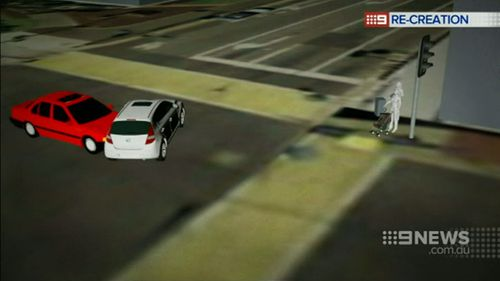 The cars collided at the intersection of High and Gower streets in Preston. (9NEWS)