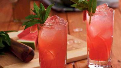 "Recipe:&nbsp;<a href=""https://kitchen.nine.com.au/2016/05/05/15/36/watermelon-rosa-cocktail"" target=""_top"">Watermelon rosa cocktail</a>"