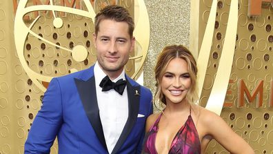 Justin Hartley, wife Chrishell Stause, 71st Emmy Awards, Microsoft Theater, September 22, 2019, Los Angeles, California