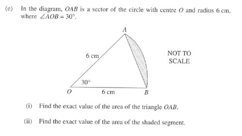 One of the questions in the 2017 HSC Maths exams.