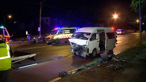 Family of five, two drivers injured in head-on Sydney crash